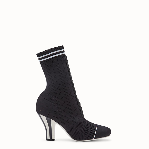 FENDI ANKLE BOOTS - Black fabric ankle boots - view 1 small thumbnail