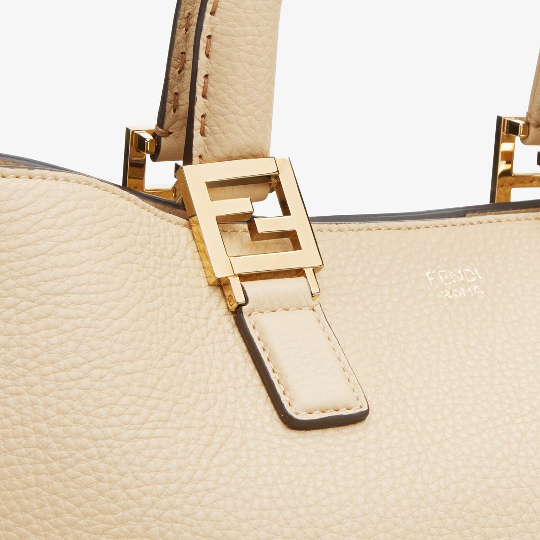 FENDI FF TOTE MEDIUM - Beige leather bag - view 5 detail