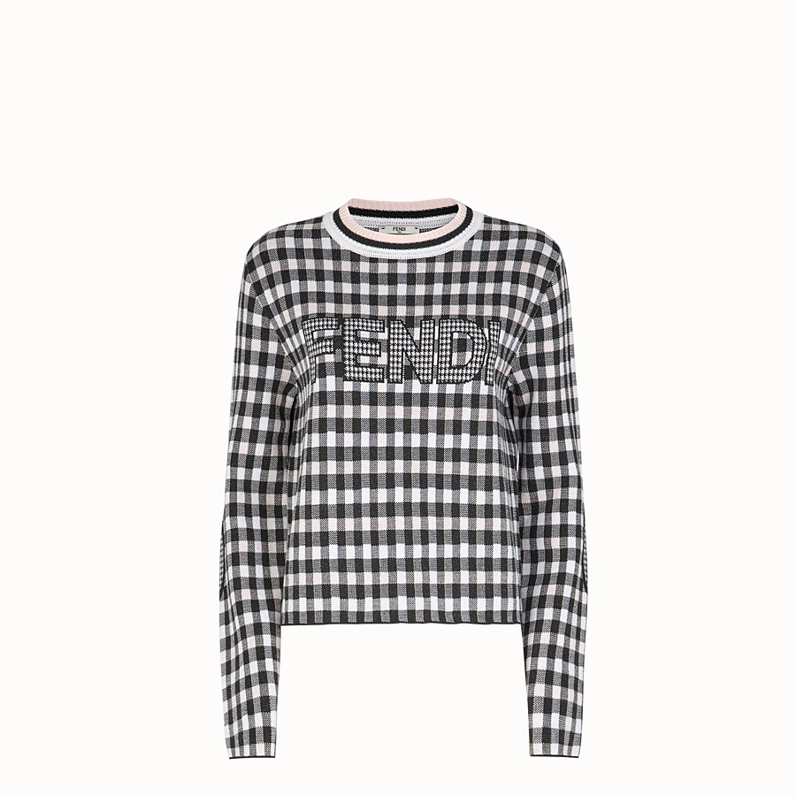 FENDI PULLOVER - Multicolor wool sweater - view 1 detail