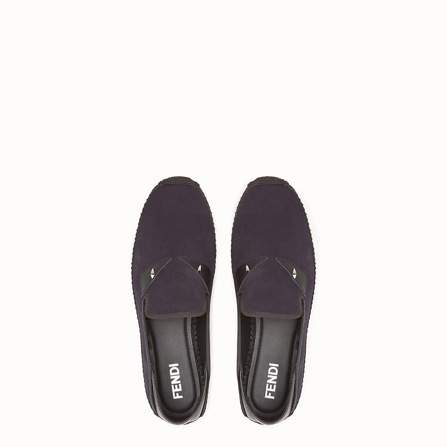 FENDI ESPADRILLES - Dark-blue leather espadrilles - view 4 detail