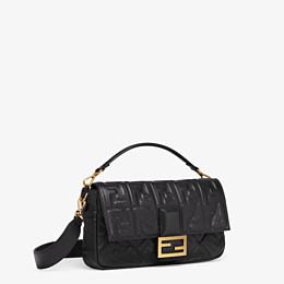 FENDI BAGUETTE LARGE - Black leather bag - view 3 thumbnail