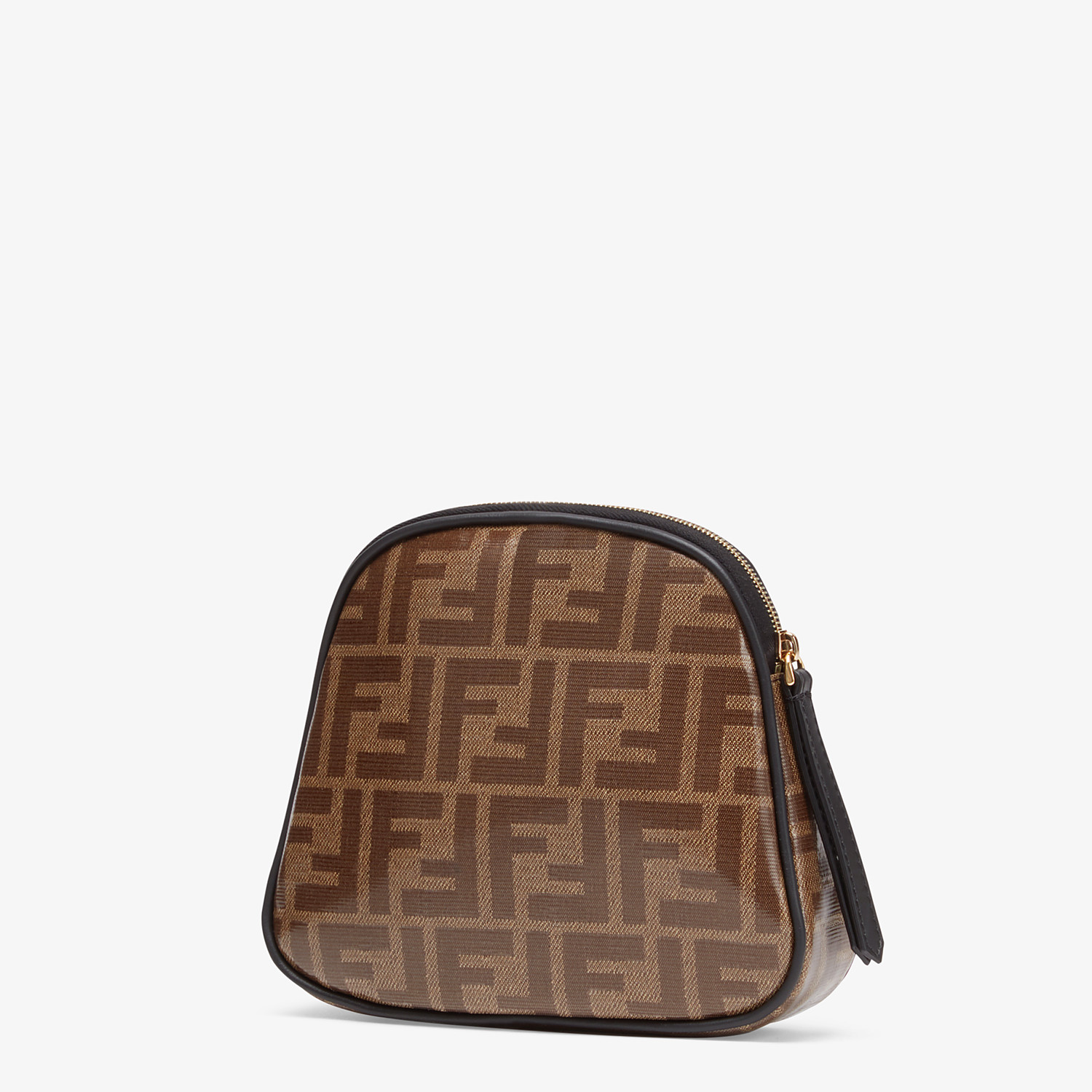 FENDI TOILETRY CASE MEDIUM - Brown fabric toiletry case - view 2 detail