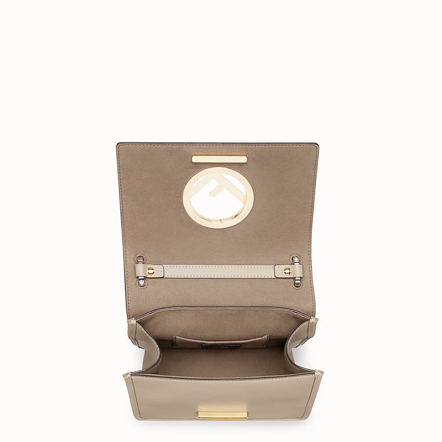 FENDI KAN I F SMALL - Grey leather mini-bag - view 4 detail