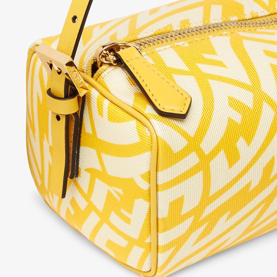 FENDI MINI BAG - Yellow glazed canvas mini-bag - view 6 detail