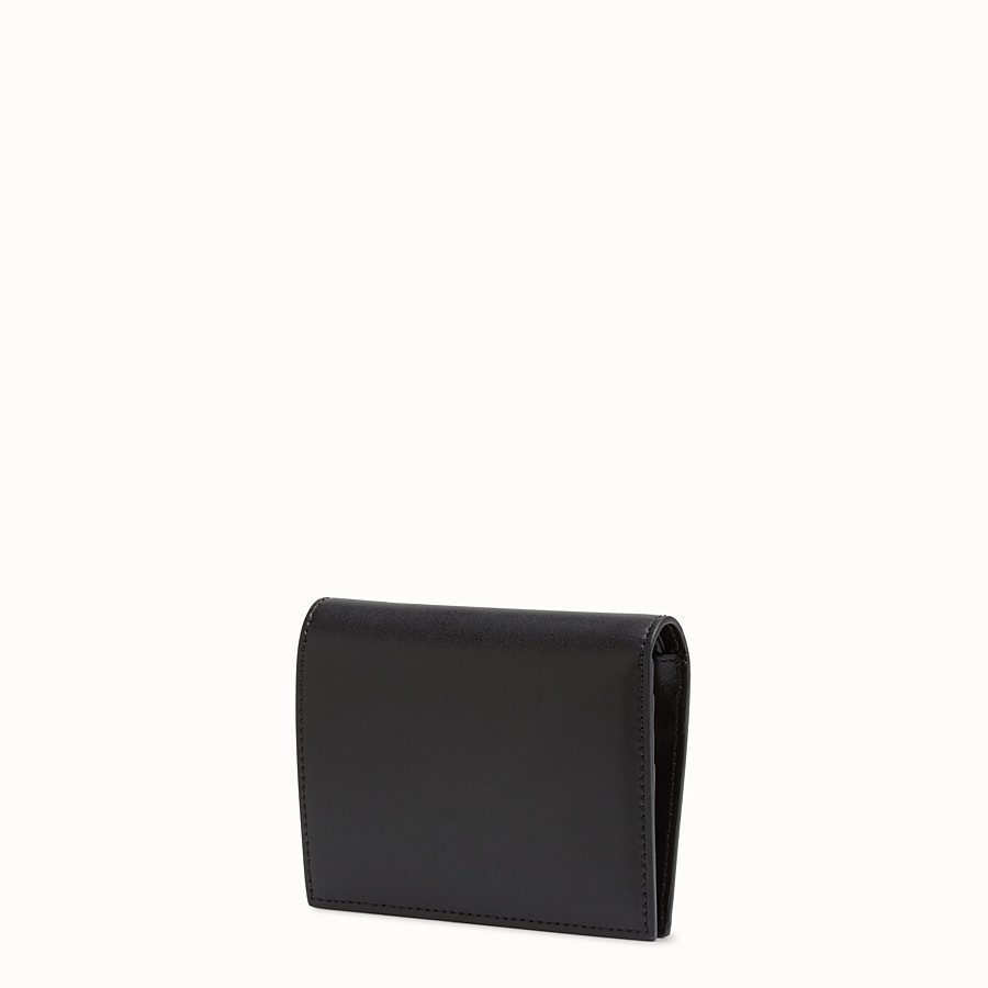 FENDI WALLET - Black leather bi-fold - view 2 detail