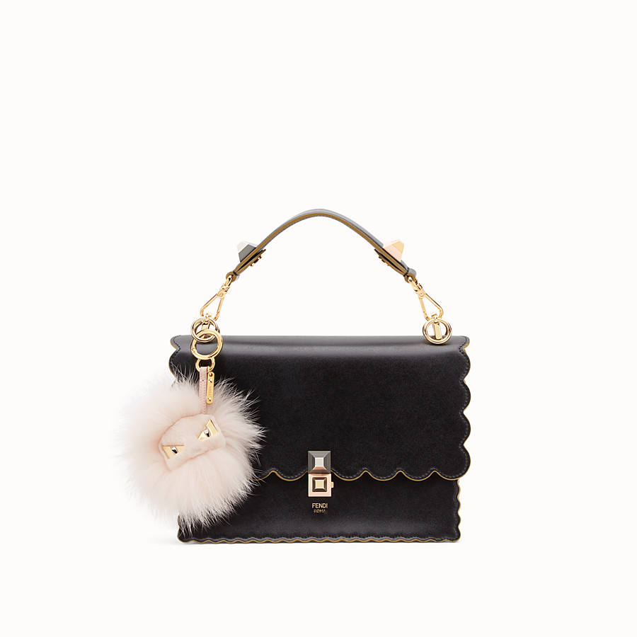 FENDI BAG BUGS CHARM - Pink fur charm - view 2 detail