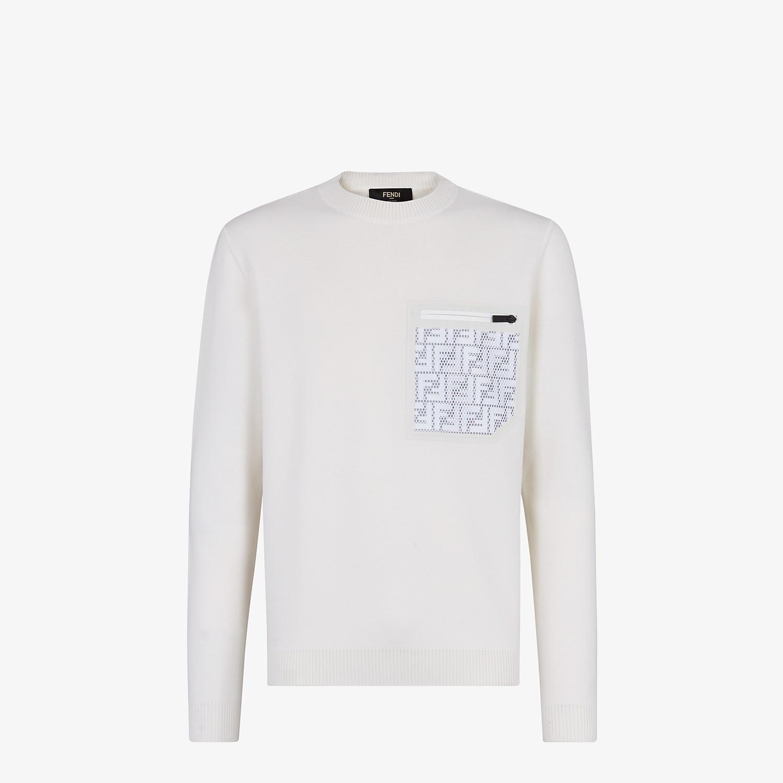 FENDI PULLOVER - Maglia in lana bianca - vista 1 dettaglio
