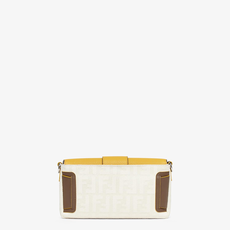 FENDI BAGUETTE - White canvas bag - view 4 detail
