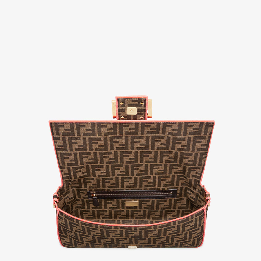 FENDI BAGUETTE LARGE - Fendi Roma/Amor fabric bag - view 4 detail