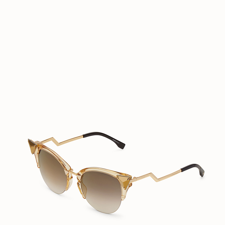 FENDI IRIDIA - Gold-coloured sunglasses - view 2 detail