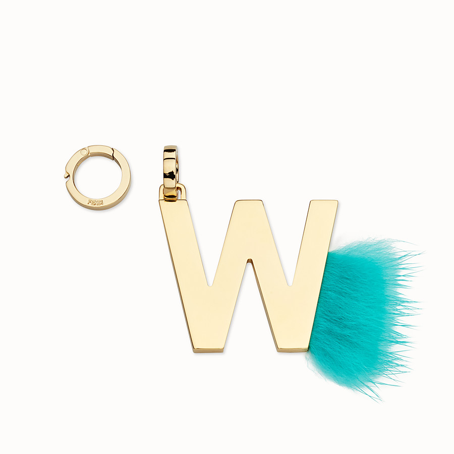 FENDI ABCLICK W - Pendant with aquamarine fur - view 1 detail