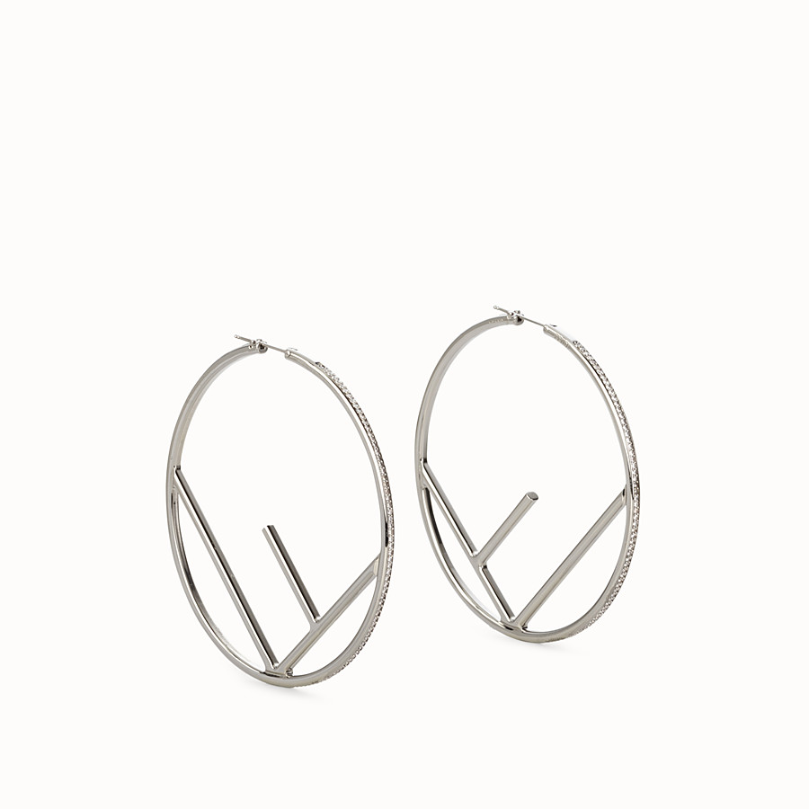 FENDI F IS FENDI EARRINGS - Silver coloured earrings - view 1 detail