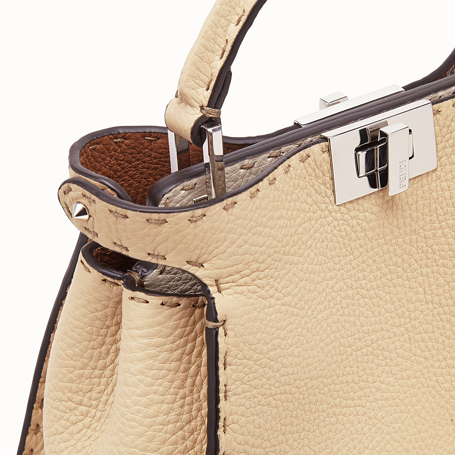 FENDI PEEKABOO ICONIC ESSENTIALLY - Beige leather bag - view 6 detail