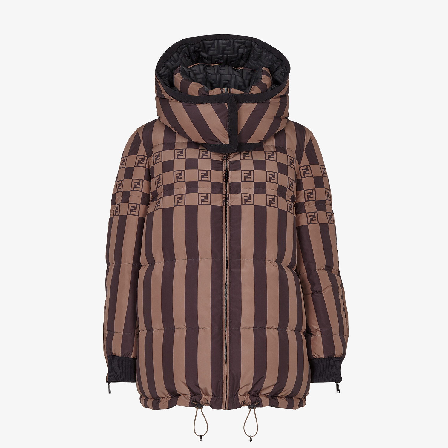 FENDI SKI JACKET - Ski jacket in black nylon - view 4 detail
