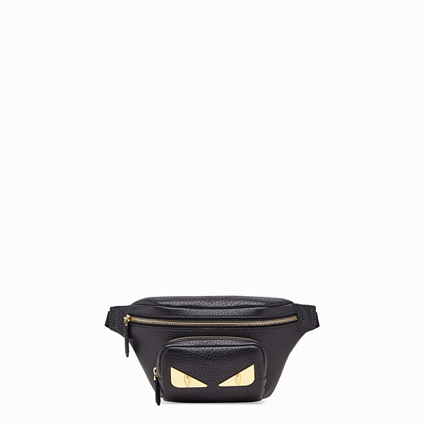 FENDI BELT BAG - Black Romano leather belt bag - view 1 small thumbnail