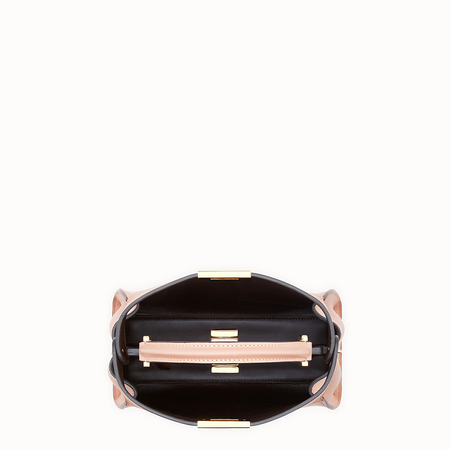 FENDI PEEKABOO ICONIC ESSENTIALLY - Pink leather bag - view 5 detail