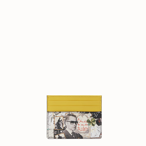 FENDI CARD HOLDER - Multicolour leather card holder - view 1 small thumbnail