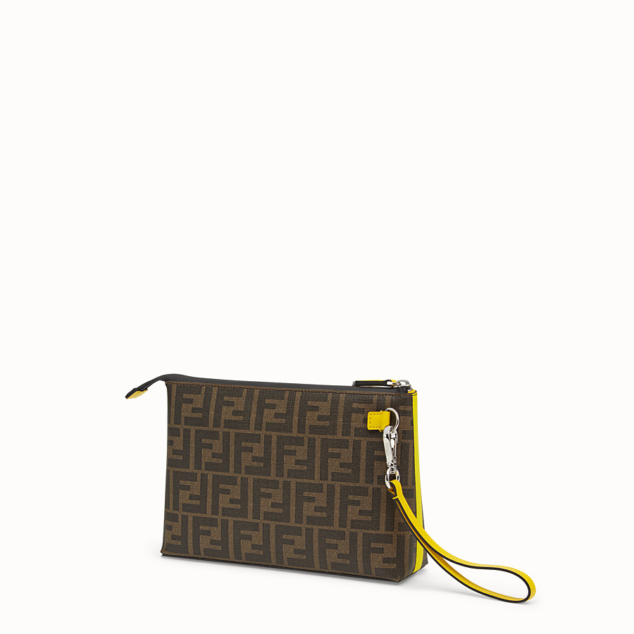 FENDI POUCH - Brown PU pochette - view 2 detail