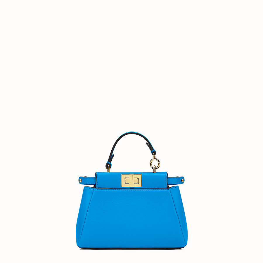 FENDI MICRO PEEKABOO - royal blue nappa microbag - view 1 detail