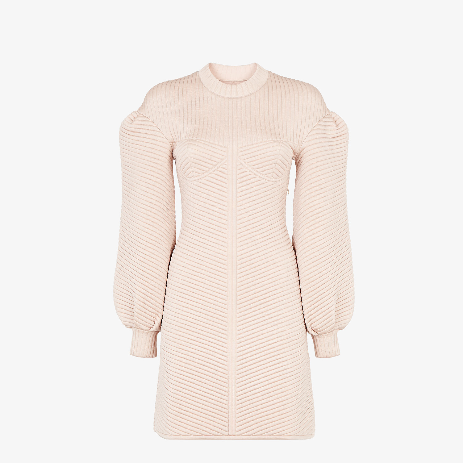 FENDI DRESS - Pink quilted fabric dress - view 1 detail