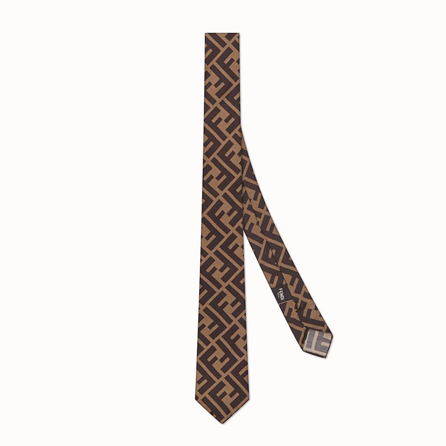 FENDI CRAVATTA - Cravatta in seta marrone - vista 1 dettaglio