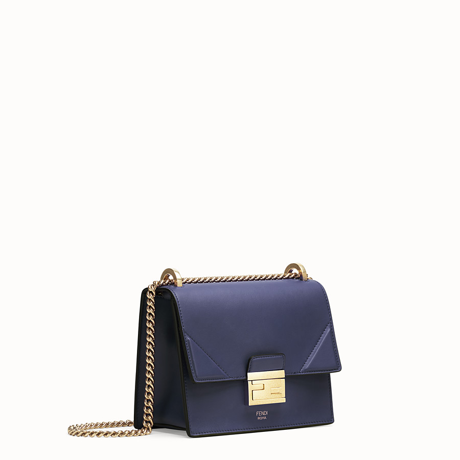 FENDI KAN U SMALL - Blue leather mini-bag - view 2 detail