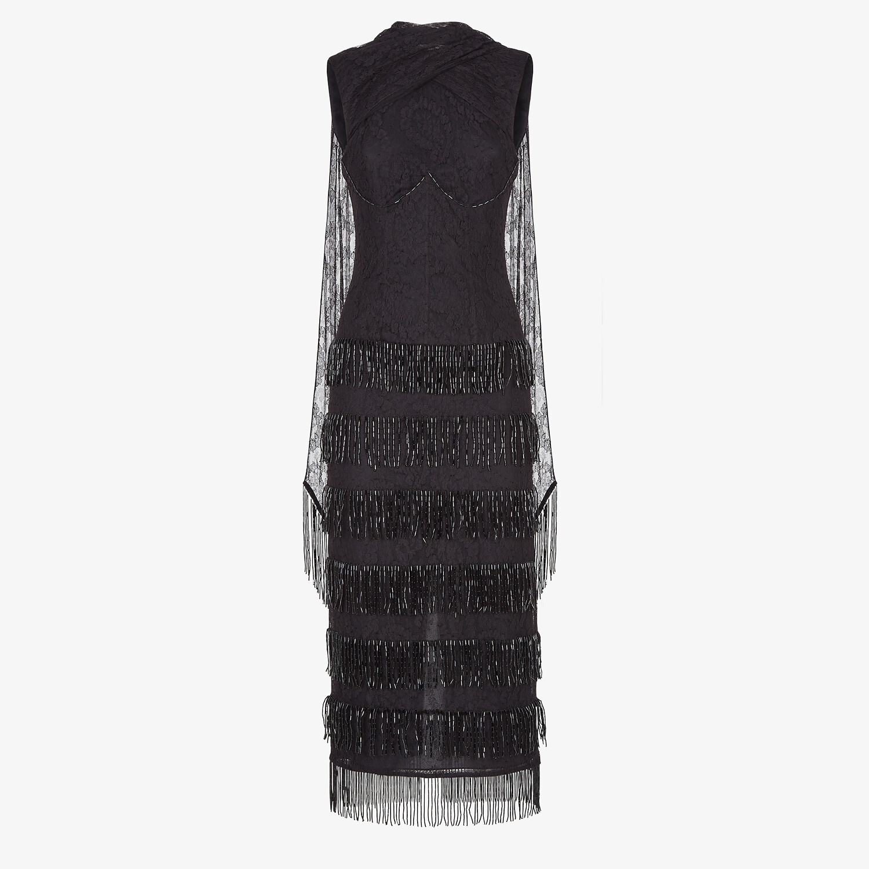 FENDI DRESS - Black lace dress - view 1 detail