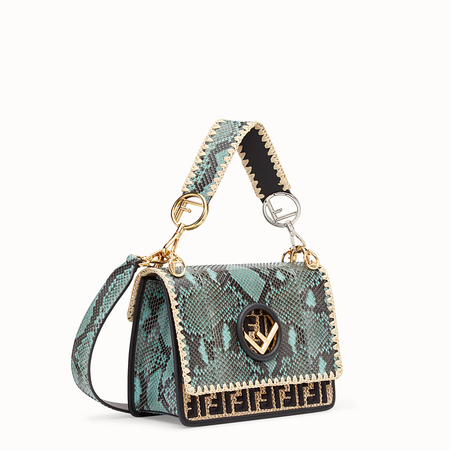 FENDI KAN I F - Green python bag - view 2 detail