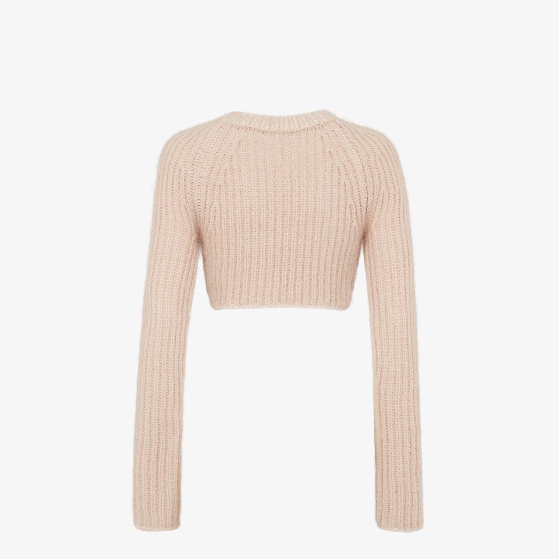 FENDI SWEATER - Pink mohair jumper - view 2 detail