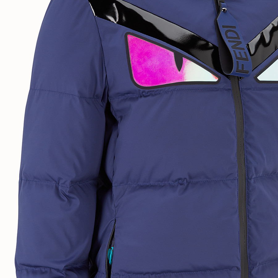 FENDI DOWN JACKET - Blue tech fabric down jacket - view 3 detail
