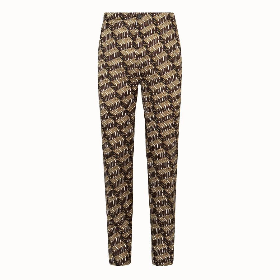 FENDI TROUSERS - Fendi Roma Amor satin trousers - view 1 detail