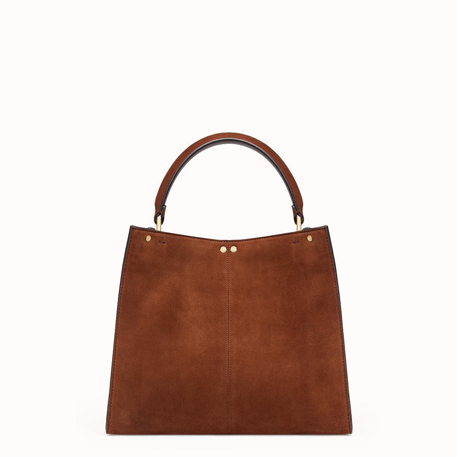 FENDI PEEKABOO X-LITE MEDIUM - Brown suede bag - view 5 detail