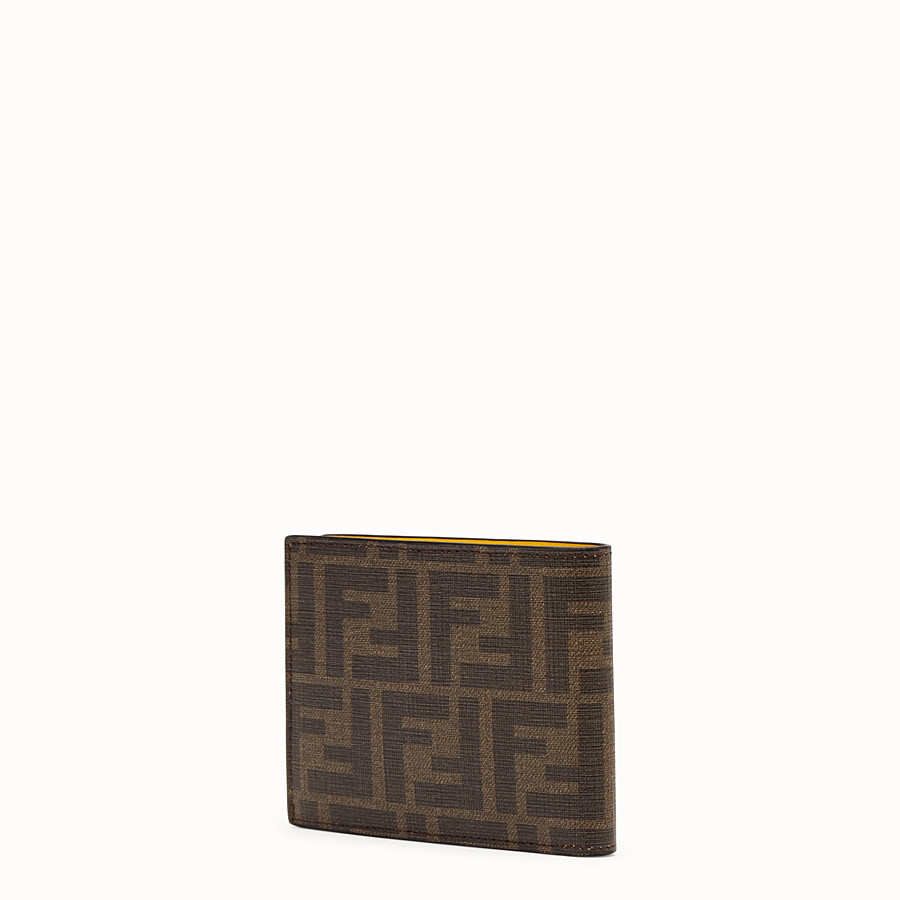 FENDI WALLET - Brown fabric bi-fold - view 2 detail