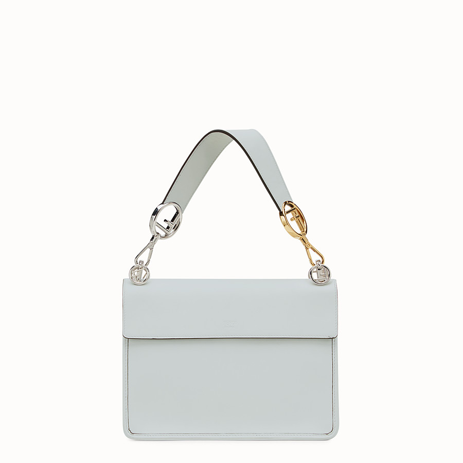 FENDI KAN I LOGO - Grey leather bag - view 3 detail