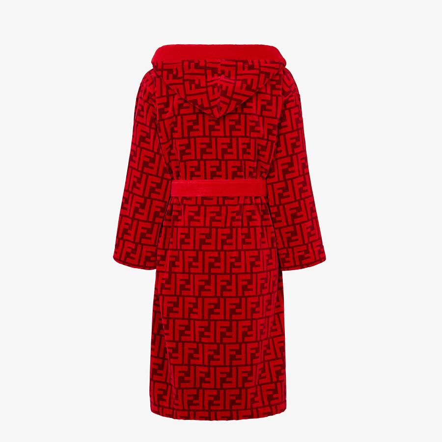 FENDI BATHROBE - Red cotton bathrobe - view 2 detail