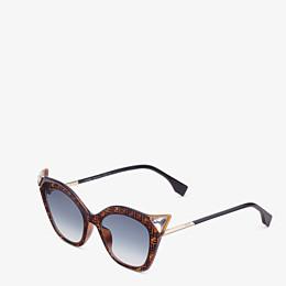 FENDI IRIDIA - Havana FF sunglasses - view 2 thumbnail