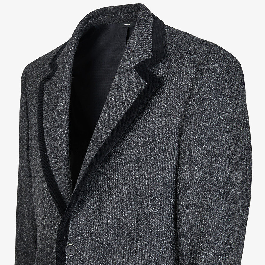 FENDI JACKET - Gray wool blazer - view 3 detail