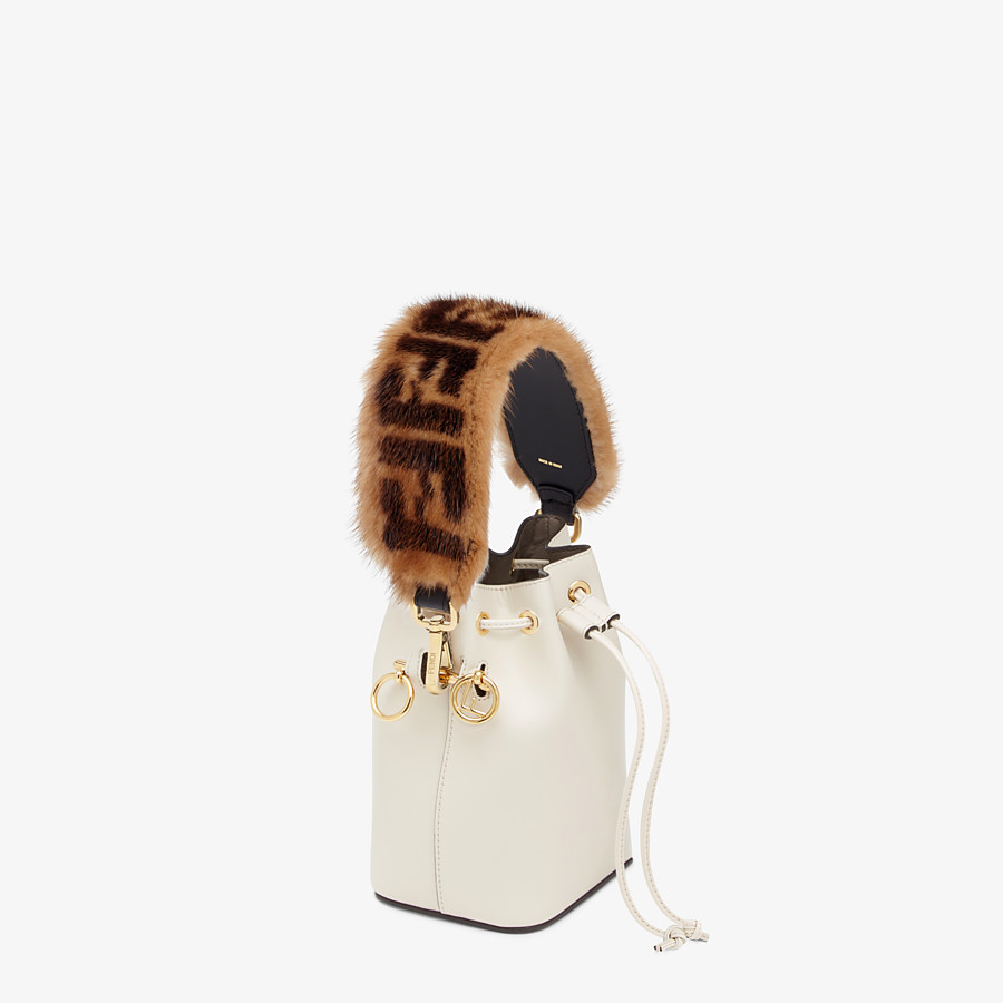 FENDI MINI STRAP YOU - Brown mink shoulder strap - view 2 detail