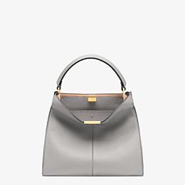 FENDI PEEKABOO X-LITE MEDIUM - Grey leather bag - view 3 thumbnail