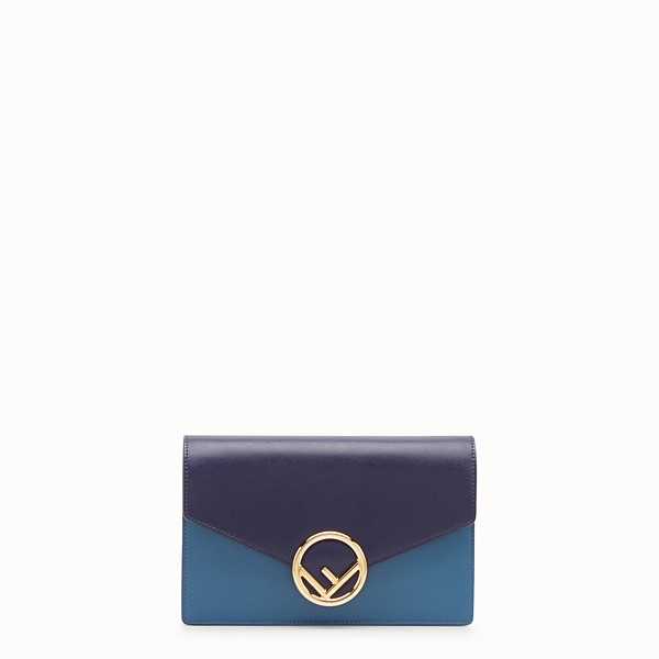 FENDI WALLET ON CHAIN - Blue leather mini-bag - view 1 small thumbnail