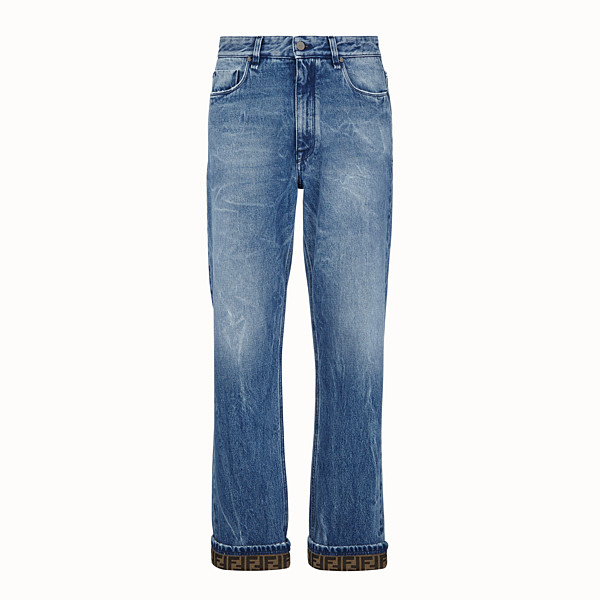 FENDI DENIM - Dark blue denim jeans - view 1 small thumbnail