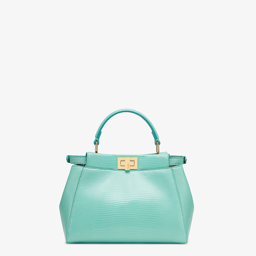 FENDI PEEKABOO ICONIC MINI - Green lizard skin bag - view 3 detail