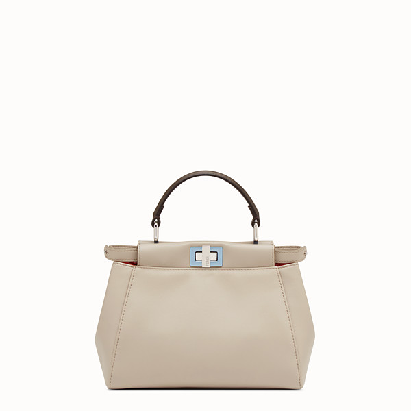 FENDI PEEKABOO MINI - Powder-gray nappa handbag - view 1 small thumbnail