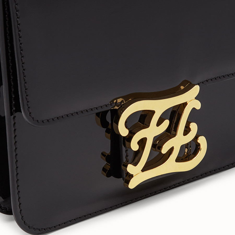 FENDI KARLIGRAPHY - Black patent leather bag - view 6 detail