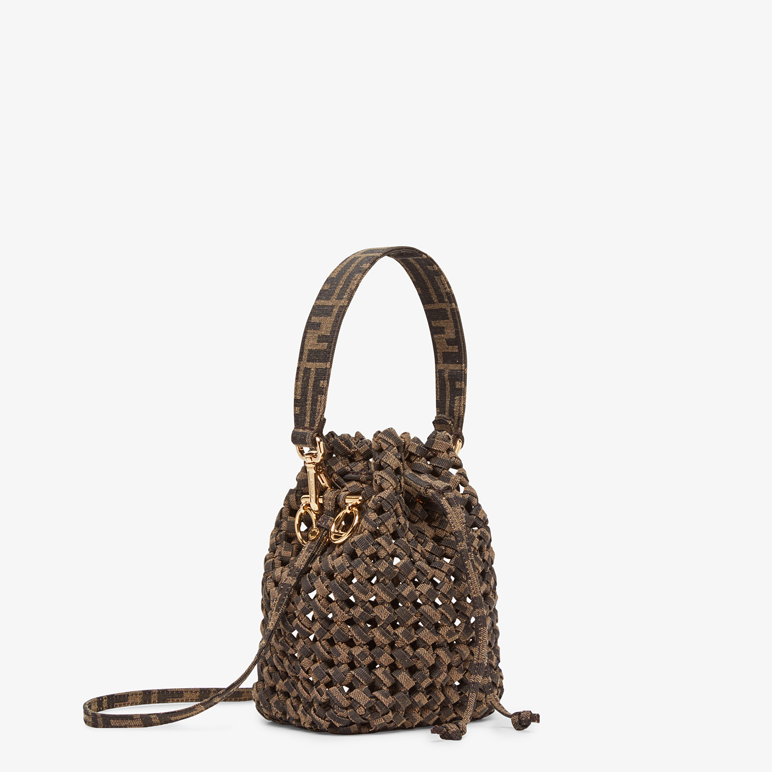 FENDI MON TRESOR - Jacquard fabric interlace mini-bag - view 2 detail
