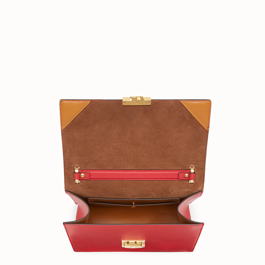 FENDI KAN U - Red leather bag - view 5 detail