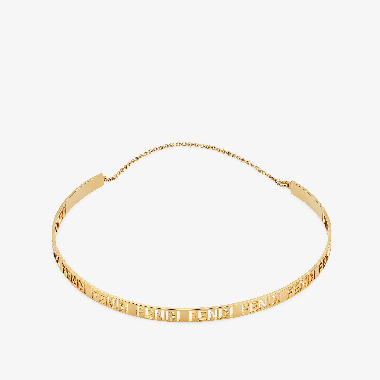 FENDI SIGNATURE NECKLACE - Gold-colored necklace - view 1 detail