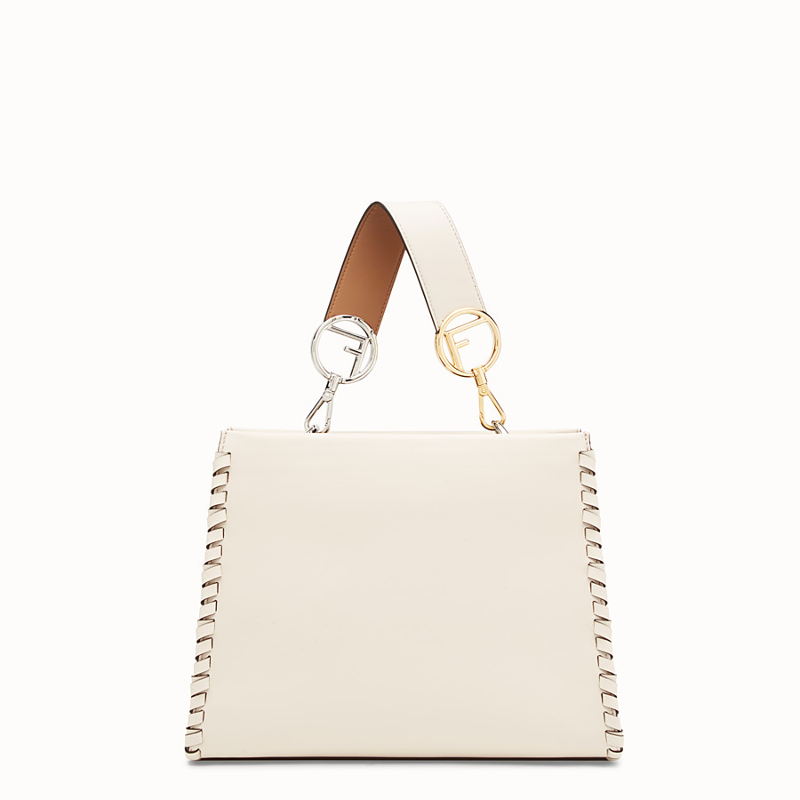 FENDI RUNAWAY SMALL - White leather bag - view 3 detail