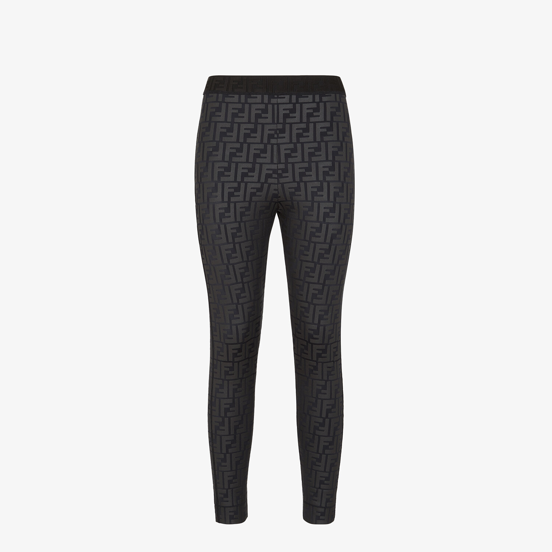 FENDI LEGGINGS - Black tech fabric leggings - view 1 detail