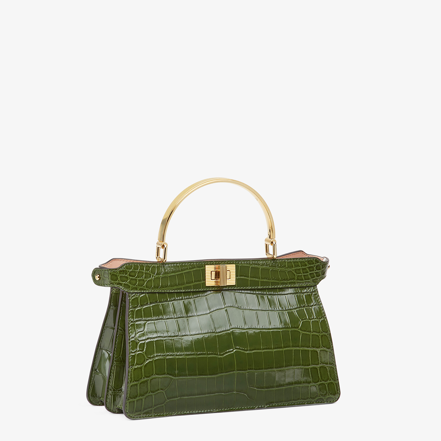 FENDI PEEKABOO I SEE U EAST-WEST - Green crocodile bag - view 3 detail
